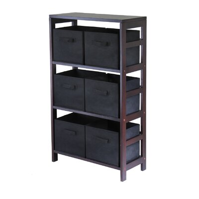 Winsome Capri Storage Shelf with 6 Foldable Black Fabric Baskets at Sears.com