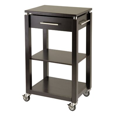 Cheap Winsome Linea Kitchen Cart with Chrome Accents (WN1378)