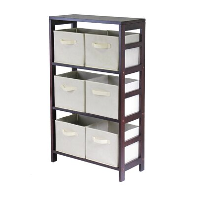 Winsome Capri Storage Shelf with 6 Foldable Beige Fabric Baskets at Sears.com
