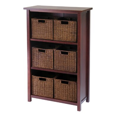 Winsome Milan Vertical Storage Shelf with Baskets in Walnut at Sears.com