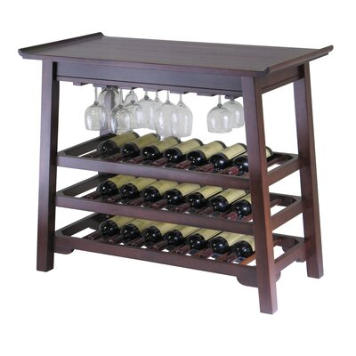 No credit check financing Chinois Console 25 Bottle Wine Rack...