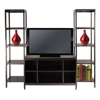 Cheap Winsome Hailey 3-Piece TV Stand Shelf Set in Espresso (WN1467)
