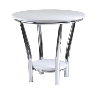 Cheap Winsome Maya Round End Table in White (WN1562)