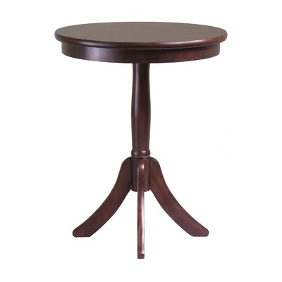 Cheap Winsome Belmont Round End Table with Pedestal Leg in Cappuccino (WN1602)