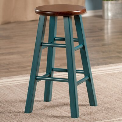 Cannady 24 Bar Stool Color: Teal