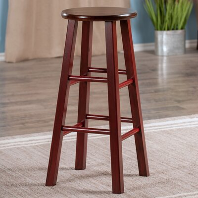 Cannady 29 Bar Stool Color: maroon