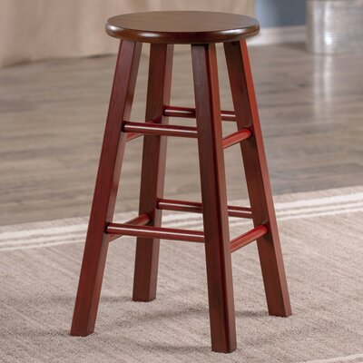 Cannady 24 Bar Stool Color: Maroon