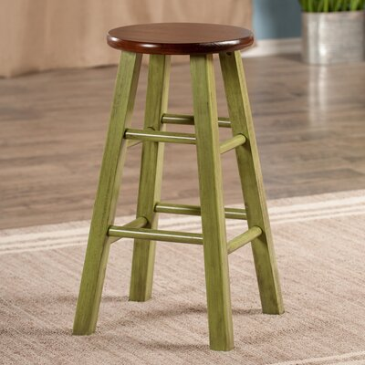 Cannady 24 Bar Stool Color: Green