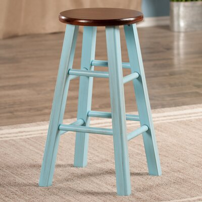 Cannady 24 Bar Stool Color: Blue