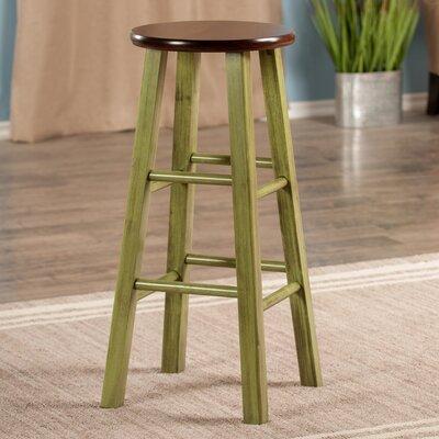 Cannady 29 Bar Stool Color: Green