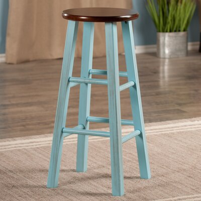 Cannady 29 Bar Stool Color: Blue