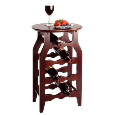 Cherry 8 Bottle Floor Wine Rack