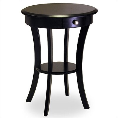 Cheap Winsome Black Round End Table (WN1141)