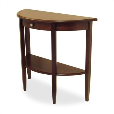 Cheap Winsome Walnut Half Moon Console Table (WN1187)