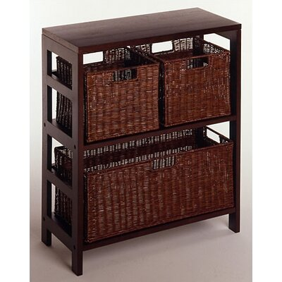 Winsome Espresso Wide 2 Section Storage Shelf and Baskets at Sears.com