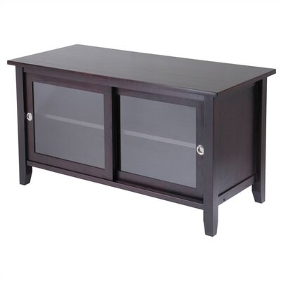 Cheap Winsome Espresso 45″ TV Stand with Sliding Glass Doors (WN1320)