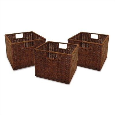 Espresso Wicker Basket Set
