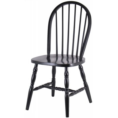 Financing Side Chair (Set of 2) Finish: Black...
