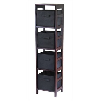 Winsome Capri Storage Shelf with 4 Foldable Black Fabric Baskets at Sears.com