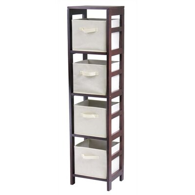 Winsome Capri Storage Shelf with 4 Foldable Beige Fabric Baskets at Sears.com