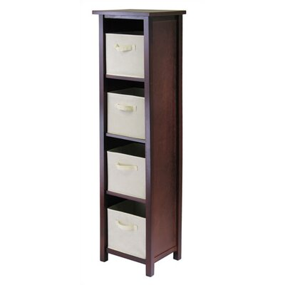 Winsome Verona Storage Shelf with 4 Foldable Beige Fabric Baskets at Sears.com