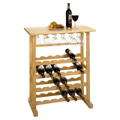 Basics 24 Bottle Floor Wine Bottle Rack