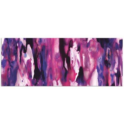 'Watercolor Composition Purple' Painting Print Plaque L0209PG