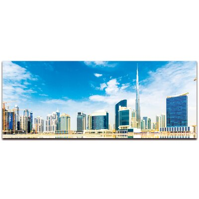 City Skyline 'Dubai City on Modern Crowd Urban Cityscape Enhanced' Photographic Print Format: Acrylic L0269AC