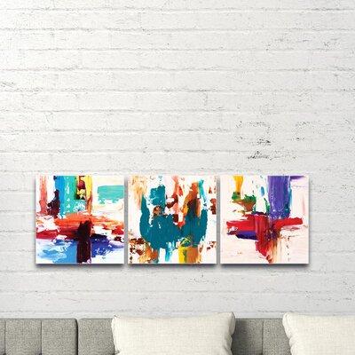 'Urban Triptych 2' Acrylic Painting Print Size: 12