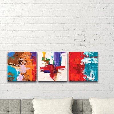 'Urban Triptych 5' Acrylic Painting Print Size: 12