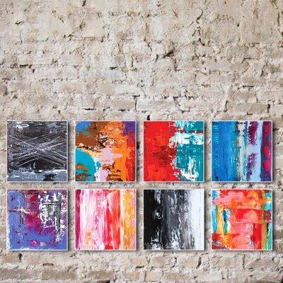 'Urban Windows' Acrylic Painting Print Size: 25