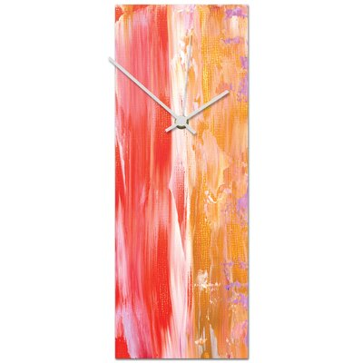 Palaestra Contemporary Metal Wall Clock Size: Medium