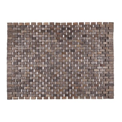 Exotic Woods Roosevelt Doormat Color: Black
