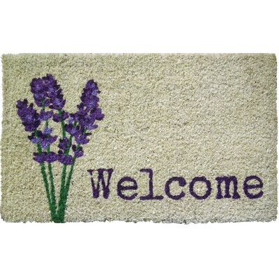 Lavender Welcome Doormat