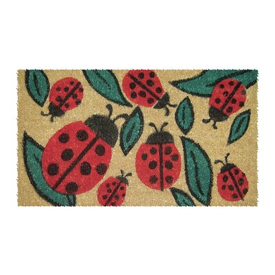Lady Bugs Hand Woven Doormat Mat Size: Rectangle 16 x 26