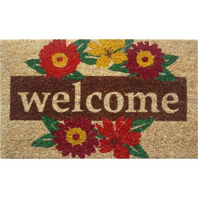 Wreath Welcome Doormat