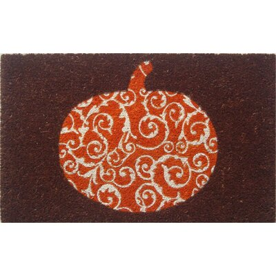Sweet Home Scrolled Pumpkin Doormat