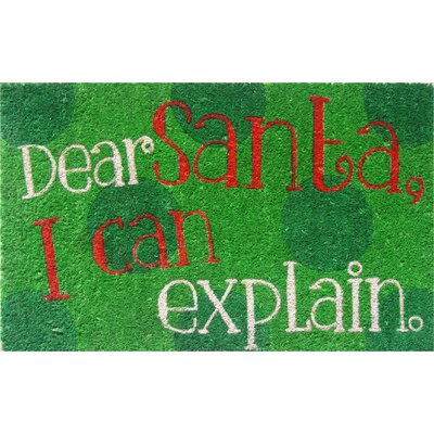Sweet Home Dear Santa Doormat