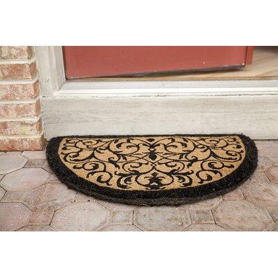 Adam Iron Grate Doormat Mat Size: Half Round 18 x 30