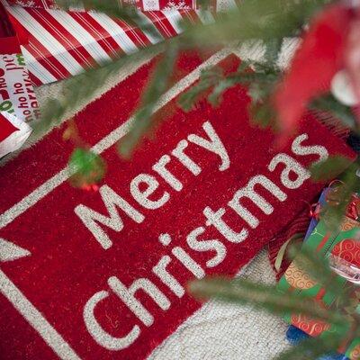 Sweet Home Christmas Present Doormat