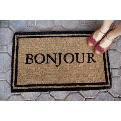 DeRuyter Bonjour Non Slip Coir Doormat
