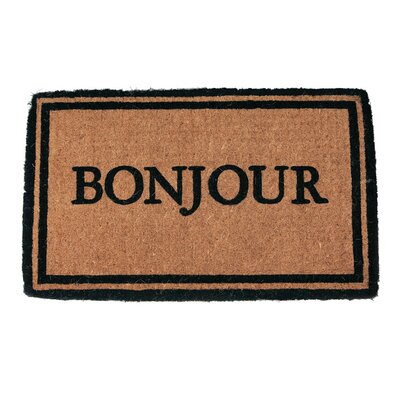 Patrick Bonjour Doormat Mat Size: Rectangle 16 x 26