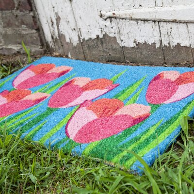Sweet Home Field of Tulips Doormat