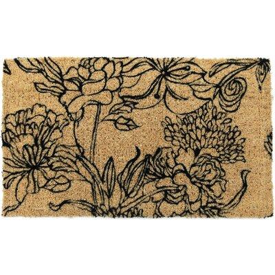 Gassin Ink Bouquet Doormat Size: Rectangle 18 x 30