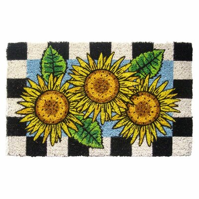 Checkers Sunflower Doormat