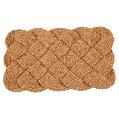 Knot Ical Doormat Rug Size: 16 x 26