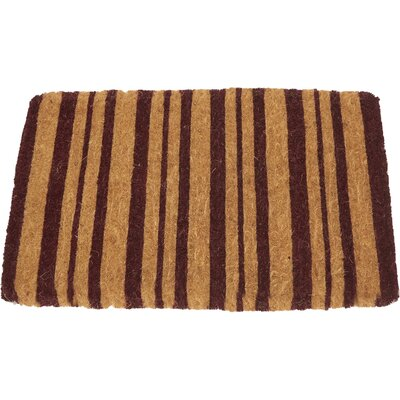 Burgundy Stripes Doormat