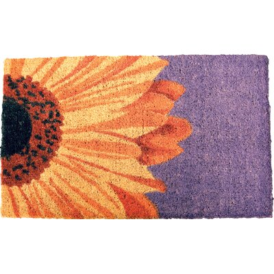 Gassin One Sunflower Doormat Mat Size: Rectangle 16 x 26