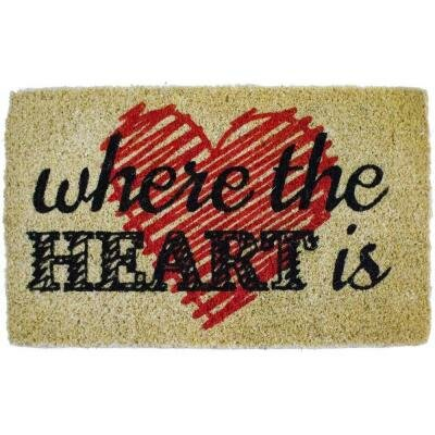 Heart Handwoven Doormat