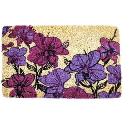Orchids Handwoven Doormat
